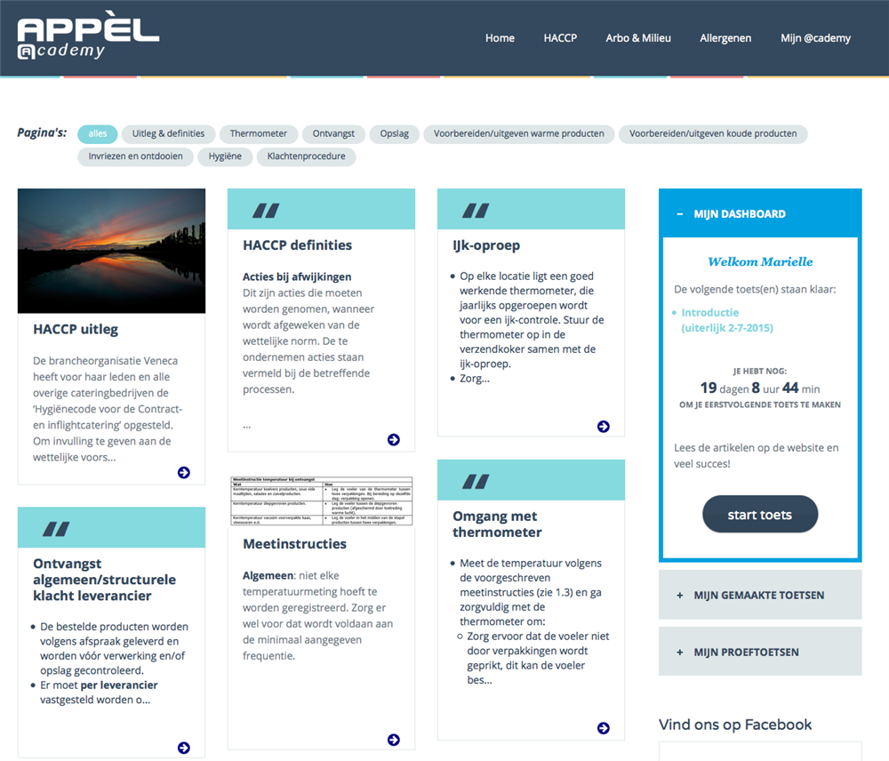 Appèl e-learning module